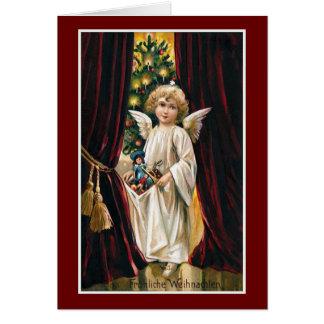 """""""Frohliche Weihnachten"""" Vintage Christmas Card"""