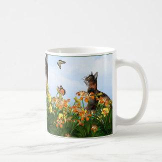 Frolicking Calico Coffee Mug