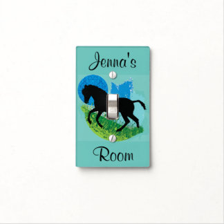 Frolicking Horse Design Light Switch Cover