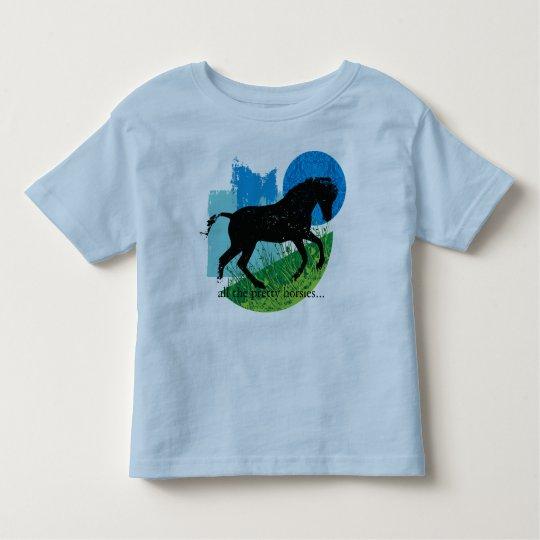 Frolicking Horse Design Tee Shirt