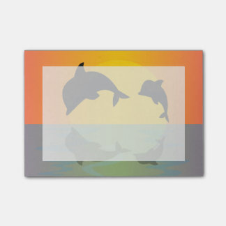 Frollocking Dolphins at Sunset Post-It Note