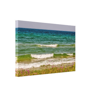 From Deep Blue Water to Green Canvas Print