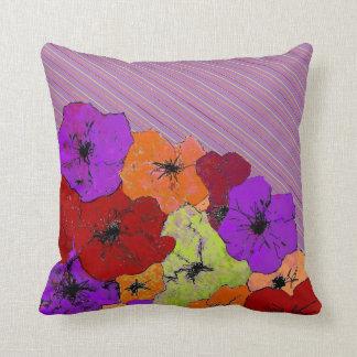 From Fall to Winter Seasonal Wildflowers Throw Pillow