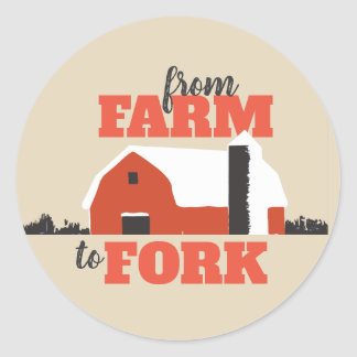From Farm to Fork Red Barn Sticker