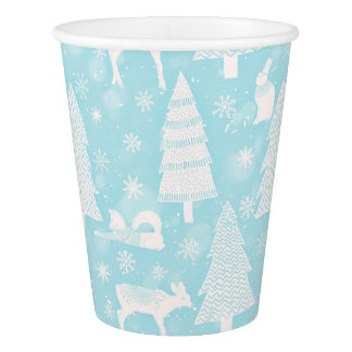 From Foxes Deers and Christmas-Teal Xmas Paper Cup