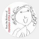 From Gramma's Kitchen Round Sticker