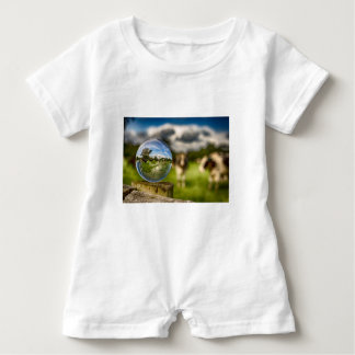 From Grass To Glass Baby Romper