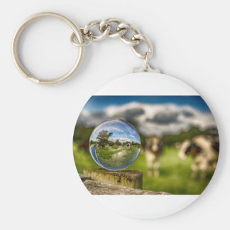 From Grass To Glass Basic Round Button Keychain