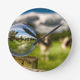 From Grass To Glass Round Clock