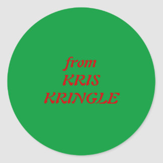 from KRIS KRINGLE Classic Round Sticker