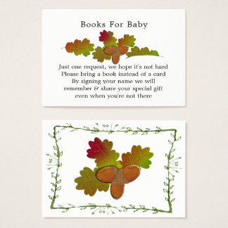 From Little Acorns Baby Shower Books for Baby Business Card