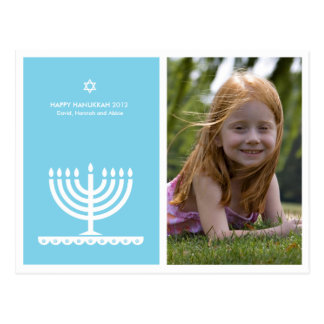 From Lucy: HAPPY HANUKKAH MODERN MENORAH Postcard