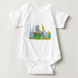 From Old To New York Baby Bodysuit