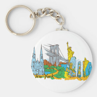 From Old To New York Keychain
