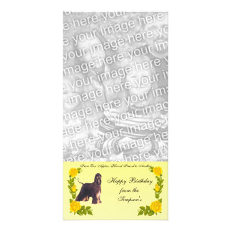 From One Afghan Hound Friend to Another Photo Greeting Card