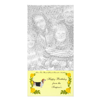 From One Basset Hound Friend to Another Photo Card Template