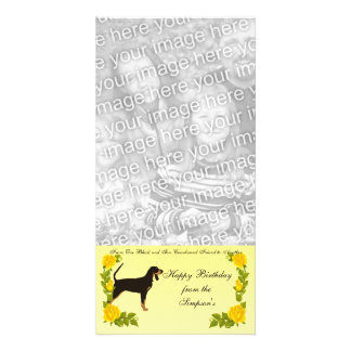 From One Black and Tan Coonhound Friend to Another Photo Card Template