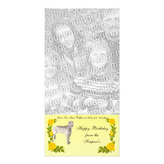 From One Irish Wolfhound Friend to Another Personalized Photo Card