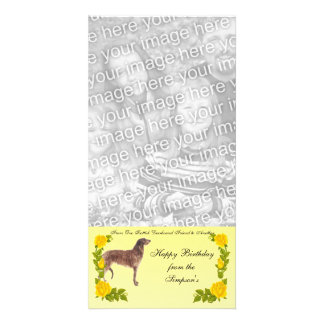 From One Scottish Deerhound Friend to Another Photo Card Template