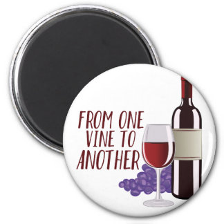 From One Vine 2 Inch Round Magnet