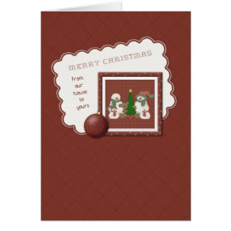 From Our House - Snowmen Family Card