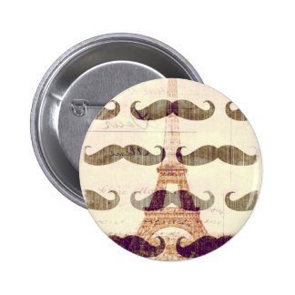 From Paris with mustache 2 Inch Round Button