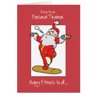 From Personal Trainer to Clients Fitness Exercise Card
