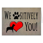 From Pets to Owner for Birthday - LOVE YOU! Card