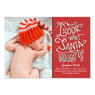 From Santa Birth Announcement Christmas Card