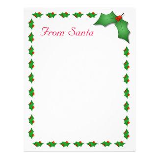 From Santa Letter Letterhead Template