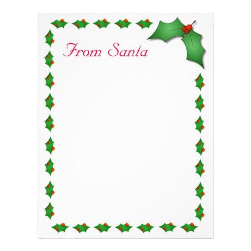From Santa Letter Letterhead Template | Zazzle