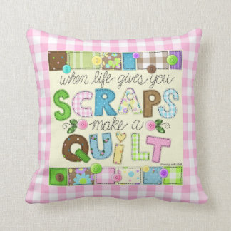 """From Scraps to Quilt"" Pillow"