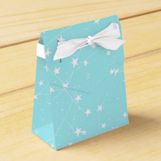 From Stars Space and Christmas-Teal Xmas Pattern Favor Box