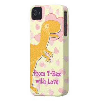 From T-Rex with Love Valentine Hearts iPhone 4 Case