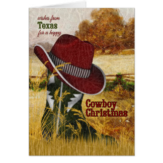 from Texas Cowboy Christmas Western Boot Card