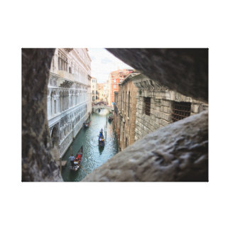 From the Bridge of Sighs, Venice. Canvas Print