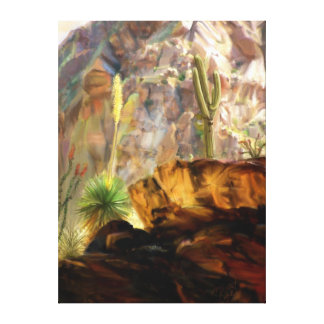 From the Canyons Shadows. Canvas Print