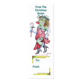 From The Christmas Queen Gift Tags Mini Business Card