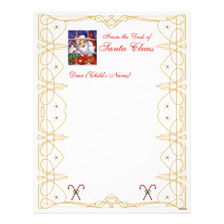 From the Desk Christmas Letterhead-Customize Personalized Letterhead