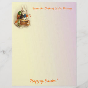 picture relating to Easter Bunny Letterhead identified as Joyful Easter Stationery Paper Zazzle CA