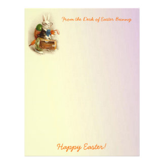 From the Desk of Easter Bunny Letterhead