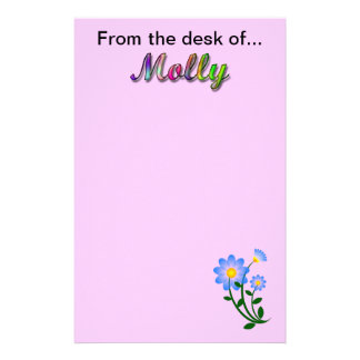 From the desk of Molly Stationery