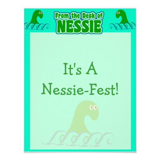 From the desk of Nessie! Personalized Invitations