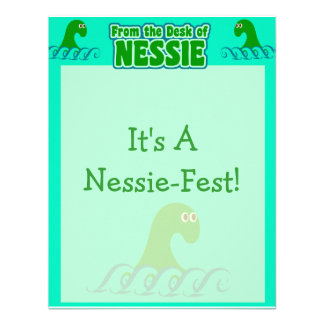 From the desk of Nessie Personalized Invitations