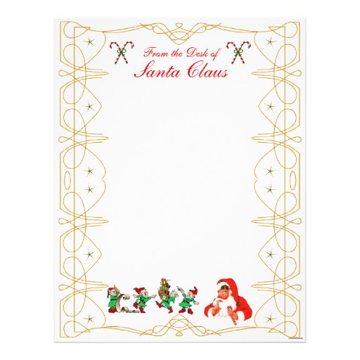 From the Desk of Santa Claus Letterhead | Zazzle
