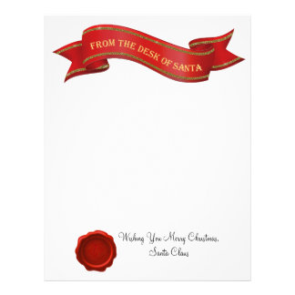 From the Desk of Santa Letter with Seal - editable Letterhead