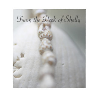 From the Desk of, Sea Shells Notepad
