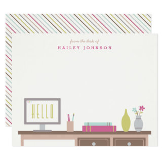 From the Desk of Stationery - Magenta Card