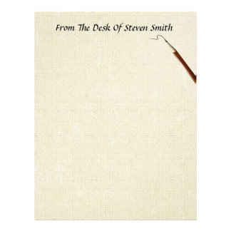 From The Desk Of... With A Pencil Stationery Letterhead Design