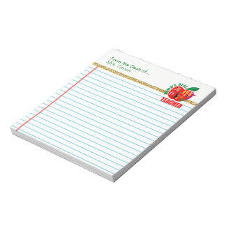 From the Desk of World's Best Teacher Personalized Notepad